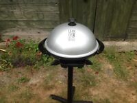 GEORGE FOREMAN ELECTRIC BBQ GRILL OUTDOOR INDOOR USE WITH STAND OR TABLETOP UNUSED AS NEW