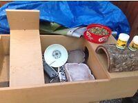 Tortoise table and full set up equipment