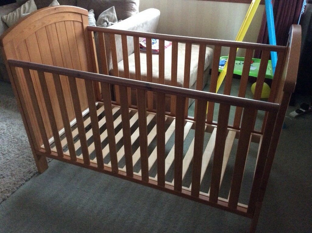 Mothercare cot bed with mattress and drawer