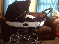 Bebecar Grand Style pram, pushchair and car seat. Travel system. Stunning. No fading. Oxford blue.