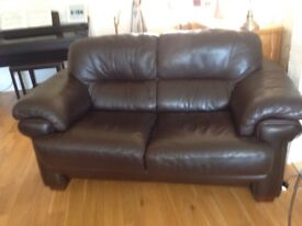 A three.two and recliner chair in dark brown suite very good condition. £250 Ono