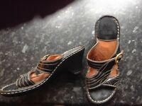 Leather Slip on Sandals size 3