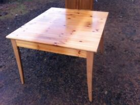 Traditional pine dining table