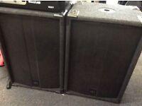 PA speakers - various ex hire equipment