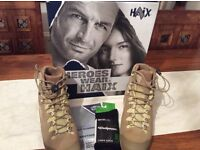 Haix Desert Scout Boots. Brand new. UK size 9 boxed includes pair of merino wool liner socks.
