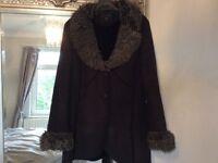 Dorothy Perkins faux sheepskin ladies coat size 16