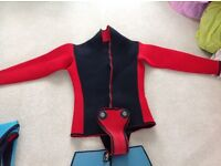 Wet suit for child age 10 to 15 and one adult
