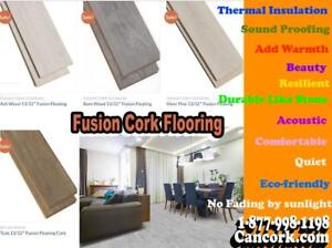 Fusion Cork Floors Stronger While Keeping All Corks Goodies Walking Comfort, Warmth, Sustainable, Acoustic Easy Install