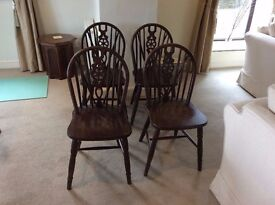 4 Cottage Style Solid wood Dining Chairs