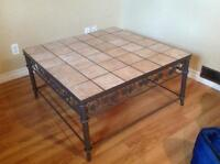 Tile Top Coffee Table / End Tables