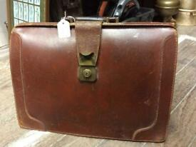 Vintage Real Cowhide Leather Document Bag