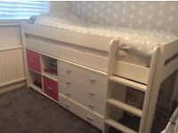 Girls Stompa mid sleeper bed