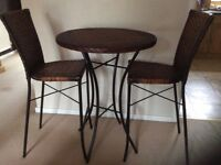 Table and 2 bar chairs