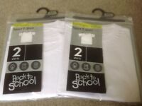 Three White Age 5-6 Sport T Shirts