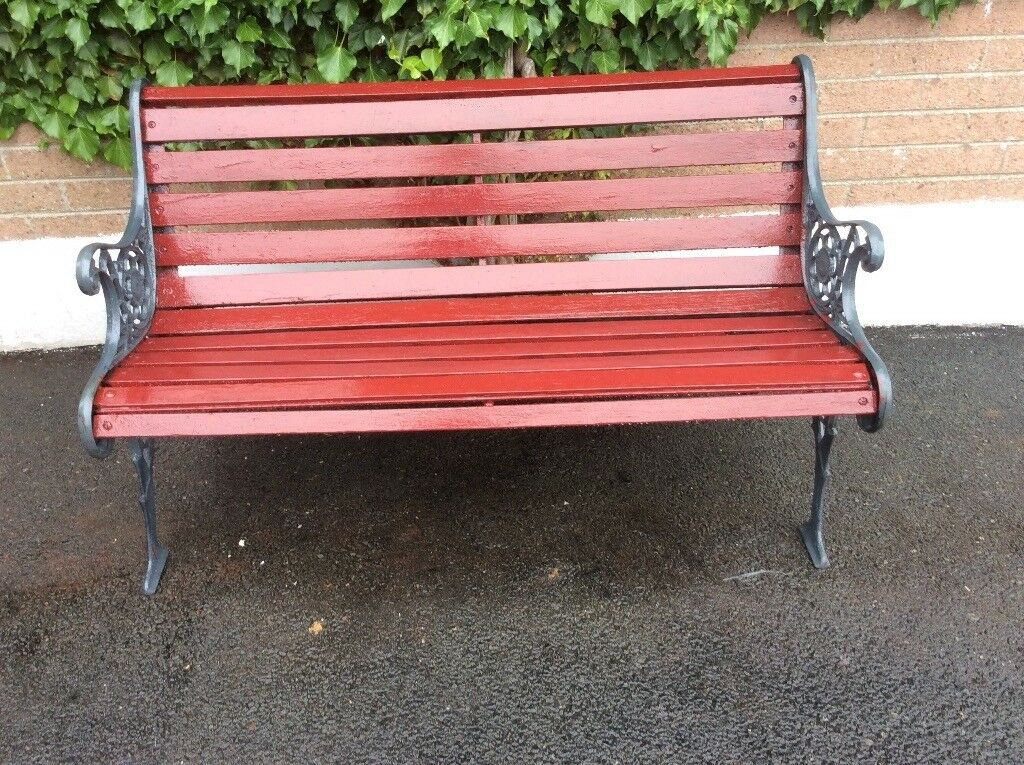 Decorative Garden Bench 4 Foot Length 24 Wooden Slates