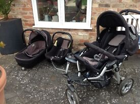 jane slalom pro pushchair, child seat, isofix base, pram, travel system