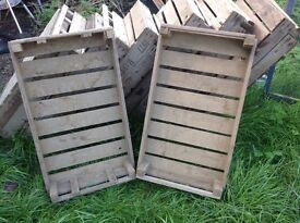 Vintage Wooden Fruit/Vegetable Tray/Crates. 14 available. Selling individually or in multiples