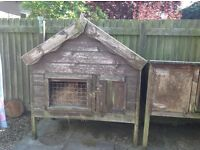 Very substantial, heavy rabbit hutch originally from Daves Garden sheds from Carnoustie