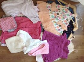 Beautiful girls clothes bundle age 9-12months