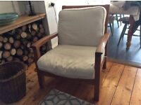 Sunroom/conservatory Real Teak chairs x2