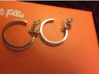 Folli Follie match and dazzle rose gold earrings and bag-never worn
