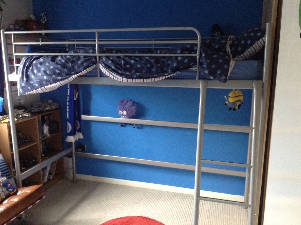 Gumtree Electric Adjustable Beds : Silver metal high sleeper in wigston leicestershire