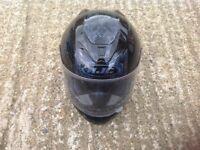 HJC black motorcycle helmet