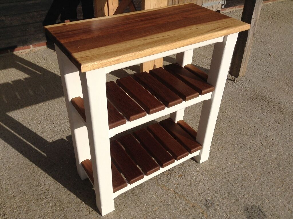 New Solid Pine Hardwood Small Kitchen Side Table Island