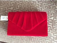 Red Clutch Bag NWT