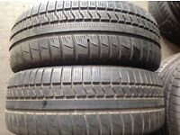 Used tyres/205/55/16-215/55/16 x from £40/fitted 5+ mm/ branded tyres