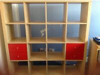 IKEA kallax/ expedit storage unit 4 x 4 birch colour
