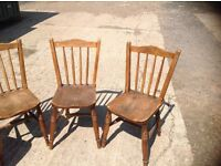 Seven Wooden Kitchen chairs