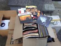 Six boxes of 45 vinyls duke box records