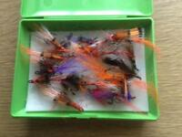 A SELECTION OF SALMON FLIES