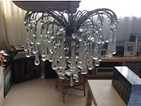 Glass droplet chandilier