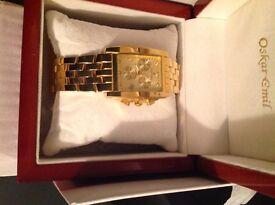 Oscar Emil Rodez Watch Ltd Edition Gents Gold Watch