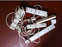 Bundle of 5 Electrical Extension Leads and 1 Multisocket