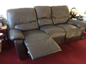 Harvey's 3 seater leather reclining sofa FREE