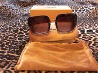 Auth Miu Miu pink sparkle sunglasses original case/box