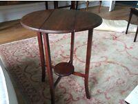 Lovely small drop leaf mahogany table
