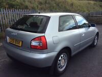MY AUDI A3 1.6 3 DOOR PETROL 12 MONTHS MOT ONLY 100K MILES VERY CLEAN INSIDE OUT !!!!!
