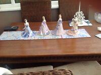 Four Coalport figurines