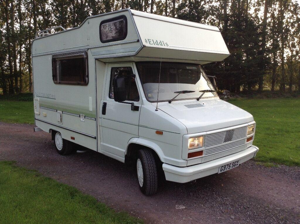 Fiat ducato elddis autoquest 4 berth motorhome 1990 g reg for Fiat ducato camper ausbau