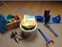 LARGE bundle boys(or girls!) toys. Skatepark (tech deck) Knex & duplo, meccano, hotwheels, dragster