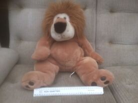 Large sitting cuddly Lion soft touch by Ace Ltd