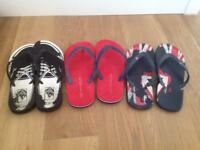 Men's flip-flops - perfect for the Summer - all size 9 (43) - Vans and M&S