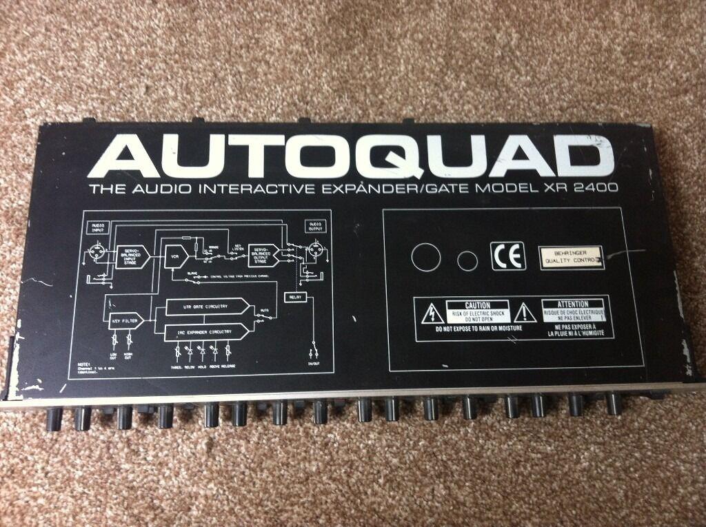 Behringer Autoquad Xr2400 Quad Noise Gate Expander In