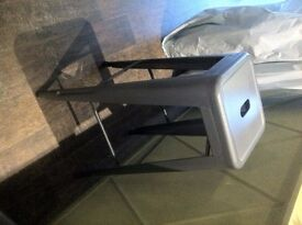 Gun metal Grey Metal Bar stool £25 each