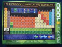 The Periodic table of the elements puzzle, 1000 pcs