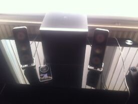 LOGITEK SPEAKERS AND SUB WOOFER